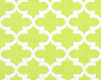 NS, Pleated drapes, Fynn citrus green and white, lined, moroccan, designer custom made curtain panels,