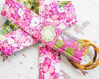 Spring Pink, garden party, Liberty of London Fabrics Belt Florals and Vintage ribbon belt, preppy style with a bit of bohemian