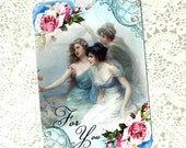 Tags, Gift Tags, Victorian Ladies, Romantic Style, For You, Birthday Gift Tags