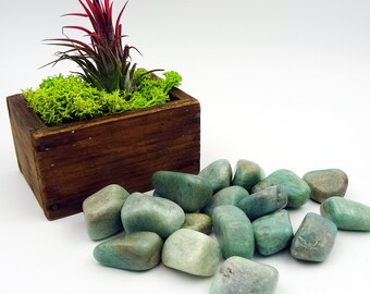 Tumbled Stones By the Ounce - AMAZONITE -(Ak)