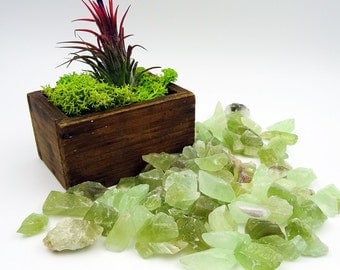 Tumbled Stones By the Ounce - GREEN CALCITE - (Ao)