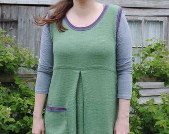 PDF Knitting Pattern download  - Kitchen Garden Tunic