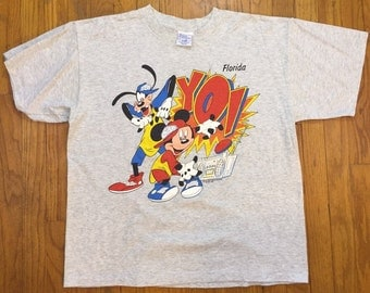 "Mickey Mouse and Goofy rappers t shirt "" YO! "" florida  extra large"