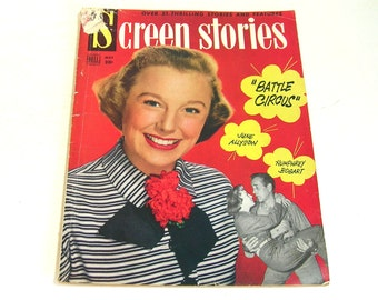 Vintage Screen Stories Magazine May 1953 June Allyson Cover