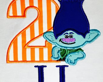 Trolls Birthday Shirt, Boy Branch, Personalized Trolls Outfit, Trolls Dress, Trolls Shirt, Poppy Birthday Shirt, Trolls Movie Shirt, Poppy