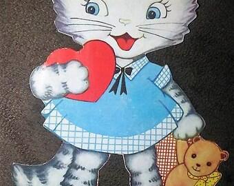 Cute Vintage 1939 Cat Kitten Valentine