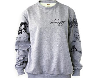 Halsey Tattoos Sweatshirt Sweater Jumper Pullover Shirt – Size S M L XL 2XL