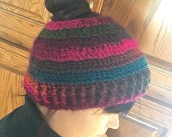 Ponytail Hat (Messy Bun or Open Top) FREE SHIP