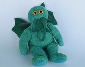 Bearthulh, a Cthulhu doll, cute altered bear