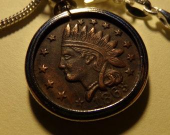 1863 Token Coin Necklace. FREE SHIPPING USA