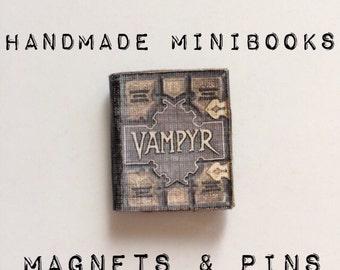 Handmade Mini Book Magnet / Mini Book Lapel Pin