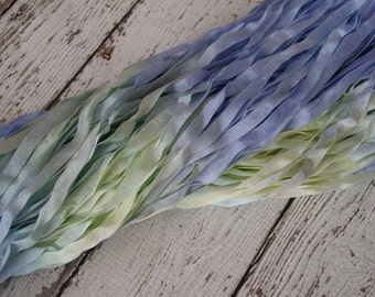 NeW - Hand Dyed Ribbon -WATERLILY quarter inch wide ribbon, 5 yards