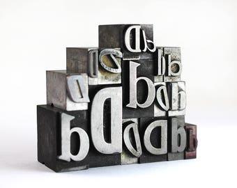 Letter D Set - Vintage Metal Letterpress