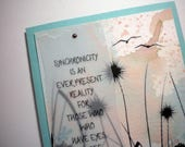 SYNCHRONICITY ~ Watercolor Greeting Card with quote by Carl Jung