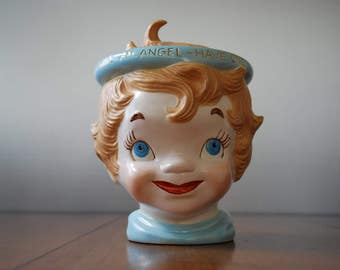 Vintage 1960's Angel Cookie Jar - Youre an Angel - Have One :)