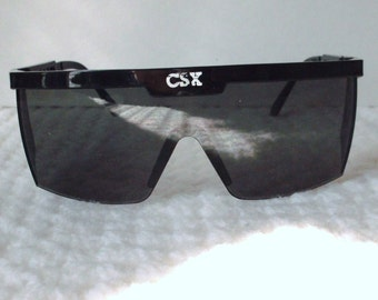 CSX Railroad Sunglasses..Wrap Around Lenses Sunglasses..Adjustable Side Arms..Novelty Item..Photo or Movie Prop..Gift for Him