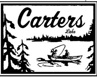 Carters Lake Rustic Wooden sign 10 x 13