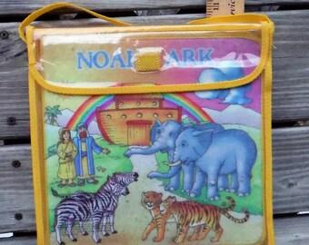 NOAH'S ARK FLANNELGRAPH Book, Bible Story, Childrens Book, Sunday School, Pack 'n Go, Vintage, Flannel Figures Book, Lion, Monkey, Giraffe