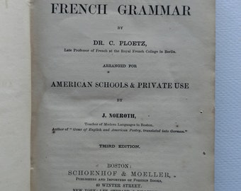 1872 Antique French Book