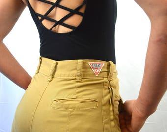 Vintage 80s Guess Jeans High Waisted Amazing Baggy Khaki Jeans Slacks Pants