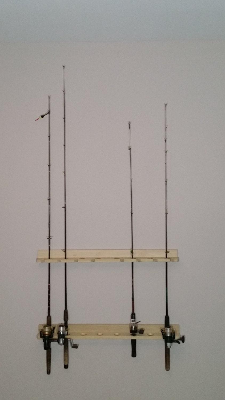 Economy poplar wooden fishing rod rack for Wooden fishing pole holder