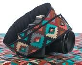 Southwestern Tribal dSLR Camera Strap, SLR, Nikon camera strap, Canon camera strap,  Native American Inspired, Mirrorless camera, 169 a