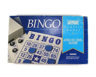 BINGO by Parker Brothers 24 Bingo Cards Vintage Bingo Game