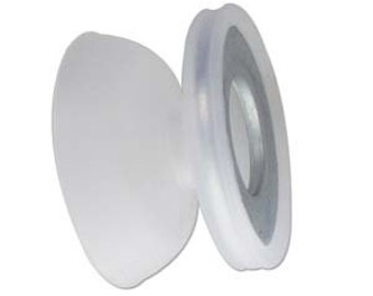Bobbins, 24g Each, Set of 8 Bobbins, 2.75 inch Bobbins, Clear (White) Bobbins, Weighted Bobbins For Kumihimo On The Foam Disk