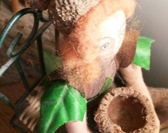 GIANT Acorn Caps for Crafting Lot of  12 Burr Oak, Big Acorns, Doll Hats and Basket, Fae Fairy Elf Accessories, Group C