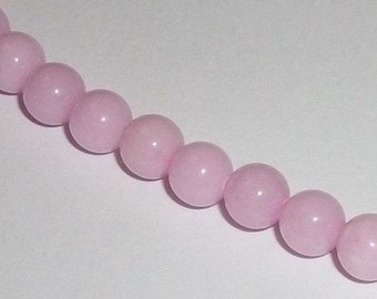 Jade, Mountain Gemstone Round beads 1 strand Opaque pink Available in 4mm, 6mm, 8mm, 10mm and 12mm