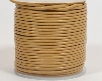 1.5mm Round Indian Leather - Light Tan - 10873