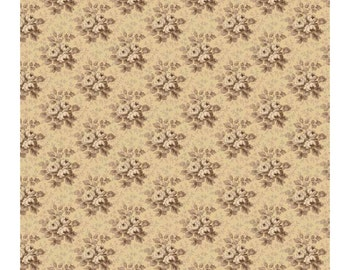 "Penny Rose Fabrics ""30's Minis"" by Erin Turner. 100% cotton, pattern C4412 TAN - Rose."