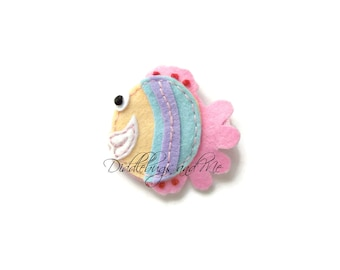 Fish Hair Clip, Colorful Fish Hair Clip, Girls Fish Hair Clip, Beach Hair Clip, Felt Fish Hair Clip, Clips For Summer, Toddler Clips