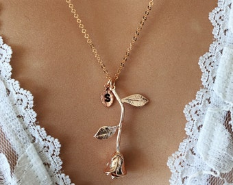Original Beauty and the Beast Necklace - Rose Necklace