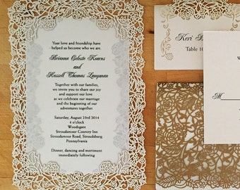 laser cut layered invitations - Layered Wedding Invitations