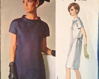 Vintage 60s Designer Dress Pattern Galitzine 34 bust Vogue 1660