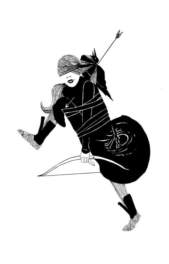 minimalist anstract print: Witch Tribute