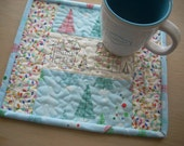 Christmas lights mini quilt snack mat - FREE SHIPPING