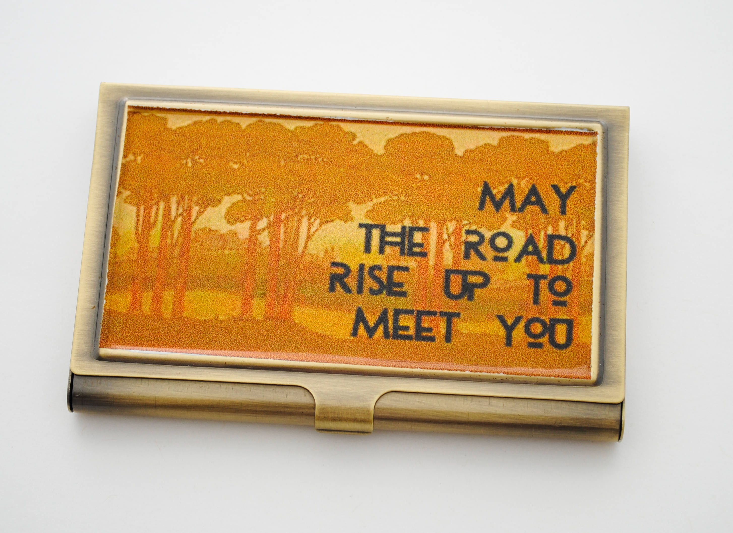 Business Card Holder - Graduation Gift - Irish Blessing - May the ...