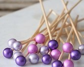 Purple Ombre Lollipop Sticks, Cake Pops Sticks, Rock Candy Sticks, Purple Lollipop Sticks, Purple Cake Pop Sticks, Mermaid Party Pop Sticks