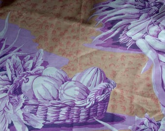 Kaffe Fassett oop, rare, vhtf, Harvest Toile, lilac, large repeat fabric by the yard
