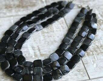 Black Chunky Necklace, Multi Strand Necklace, Black and Gray Chunky Necklace, Statement Necklace, ACRYLIC Necklace