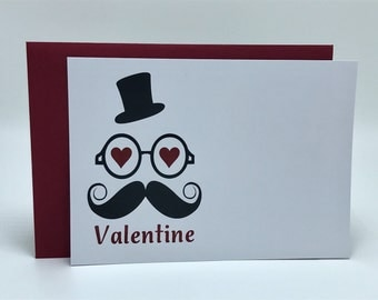 Valentines Face Simple Note Card