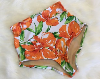 Floral high waist swimsuit bottom