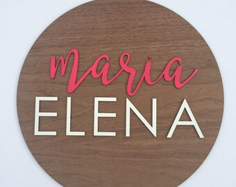 Custom Wooden Name Sign - Teen Bedroom Decor- Personalized Name Sign - Personalized Sign - Home Decor - Dorm Decor