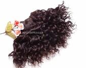 Wefted doll hair mohair goat hair dark chocolate for waldorf, Blythe natural Doll Hair, Blythe Doll Reroots, tress, human hair