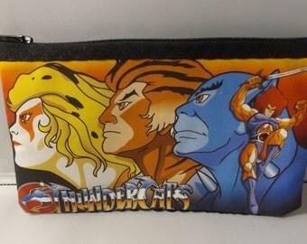 ThunderCats Fabric Zipper  Pouch  Handmade -- Pencil Pouch, Gadget Pouch