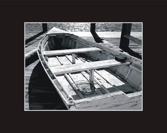 Harry O'Neal skiff Ocracoke Photographic Print matted in black North Carolina
