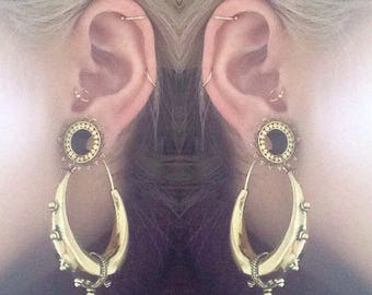 18K Gold Plated Helix earring, Cartilage earrings, Tragus piercing, Nose piercing, Tribal jewellery, Nose jewellery, Piercing