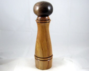 Pepper Mill Salt Mill Spice Grinder Cherry with Black Walnut Wood Top Crushgrind mechanism